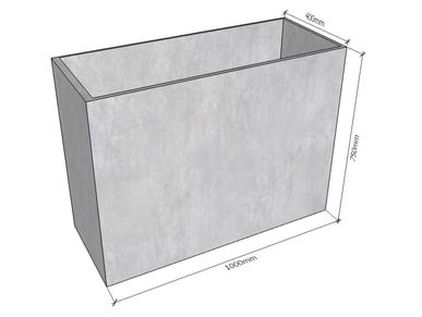GRC Concrete Tall Planter 1000 dimensions