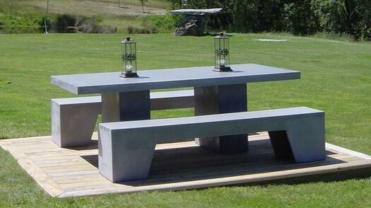 GRC Concrete outdoor furniture concrete table chairs