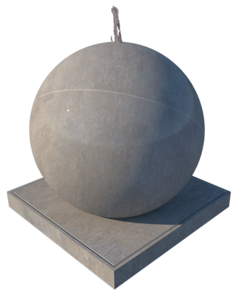 GRC Concrete Ball Fountain