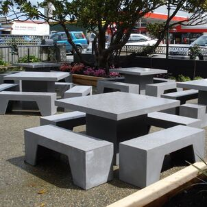 GRC Concrete outdoor furniture 1.2 square table