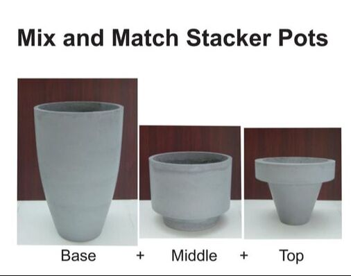 GRC Concrete Round stacker Pots Mix and Match
