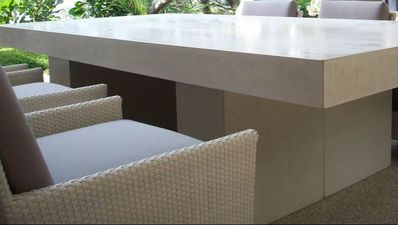 GRC Concrete outdoor furniture table and chairs settings custom designs